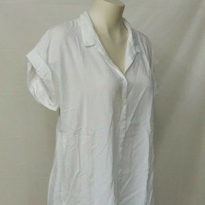 Kenneth Cole Women's L Button up Blouse White